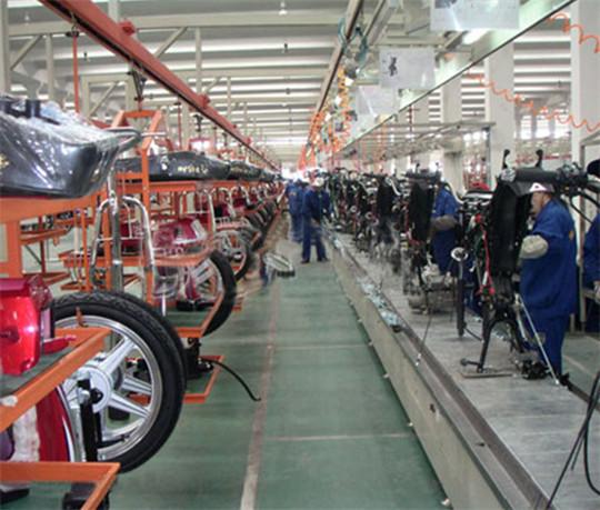 扬州摩托车装配线