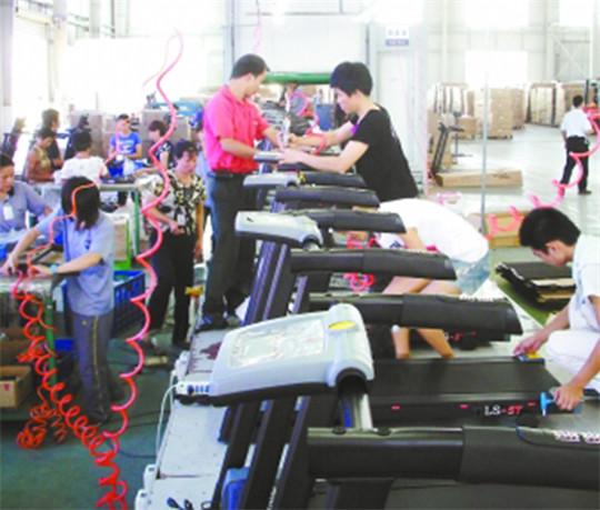 跑步机组装生产线